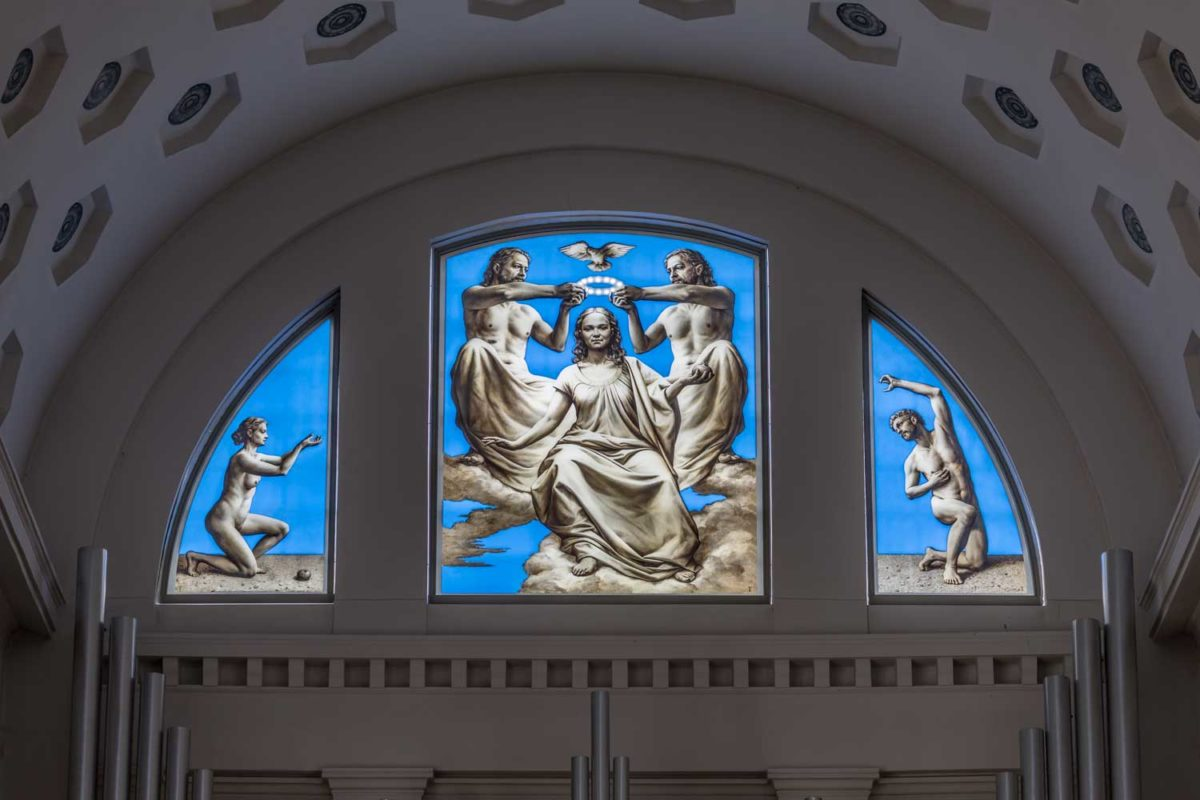 St. Maria Köthen, Fenster Michael Triegel